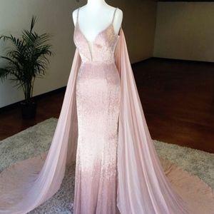 Sherri Hill Couture blush liquid bead pageant/prom